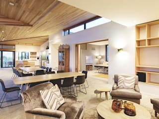 Luxury Lodge Modern living room by Willson Construction Modern
