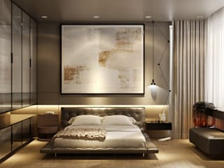 WALL INTERIOR DESIGN Camera da letto moderna