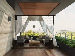 Norm designhaus Balkon Altın Sarısı