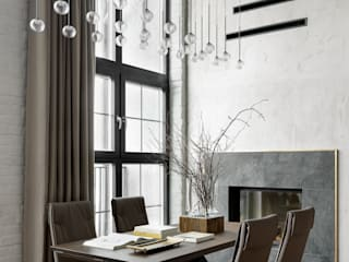 Industrial style dining room by Rubleva Design Industrial