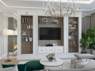 Ruang Keluarga Klasik Oleh Rubleva Design Klasik