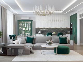 Classic style living room by Rubleva Design Classic