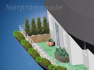 NorPromenade Balkon, Beranda & Teras Modern