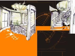 Realizzazione di una scala interna per un edificio situato in via Pietrasantina a Pisa di Studio Galantini Classico