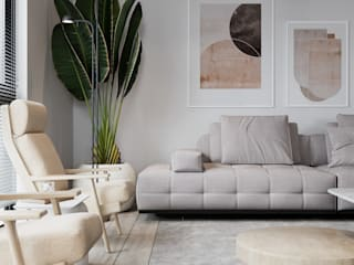 Murat Aksel Architecture Living room Concrete White
