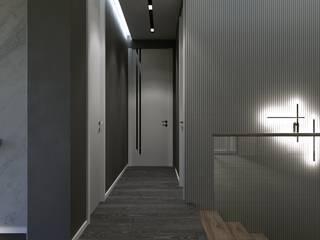 Couloir, entrée, escaliers modernes par Murat Aksel Architecture Moderne
