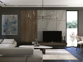 Murat Aksel Architecture Living room Wood Wood effect