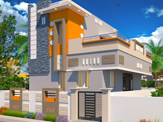 SAI Gardens | Kumbakonam | One of the Best places to settle down after retirement ( http://sgakumbakonam-builders.weebly.com/sai-gardens-individual-houses-for-sale-in-kumbakonam.html) Asian style houses by SG Associates Builders and Developers Asian