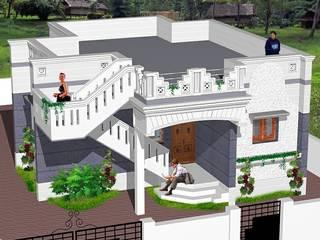 Vegetarian Community homes in Kumbakonam http://sgakumbakonam-builders.weebly.com/rk-gardens-sivapuram-budget-priced-residential-projects-in-kumbakonam.html Asian style houses by SG Associates Builders and Developers Asian