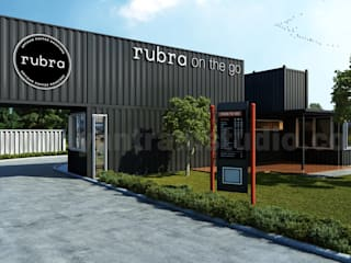 Rubra Coffee Shop 3D Exterior Design by Yantram Architectural Visualization Studio, UK - Liverpool by Yantram Architectural Design Studio Modern