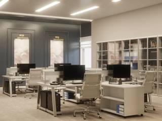 Yazılım Ofisi Tasarım ve Uygulaması Modern Çalışma Odası Lego İç Mimarlık & İnşaat Dekorasyon Modern
