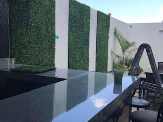Muro verde artificial Remodelacion y acabados Edificios de oficinas de estilo industrial Plástico Verde