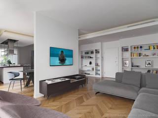 Nowoczesny salon od D3 Architetti Associati Nowoczesny