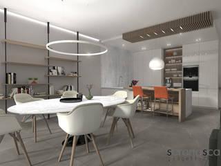 Casa di Federica Sala da pranzo moderna di serenascaioli_progettidinterni Moderno