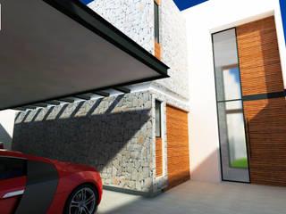 DLR ARQUITECTURA/ DLR DISEÑO EN MADERA Garajes y galpones de estilo minimalista
