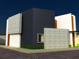 DLR ARQUITECTURA/ DLR DISEÑO EN MADERA Casas de estilo minimalista Concreto