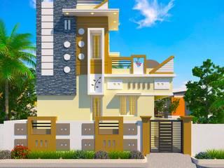 2 Bhk independent houses in Kumbakonam very near to Uppiliappan Temple and Navagraha Rahu Temple (Rahu Stalam) located in Thirunaageswaram. | http://sgakumbakonam-builders.weebly.com/shubhamangala-gardens-kumbakonam-real-estate.html Asian style houses by SG Associates Builders and Developers Asian