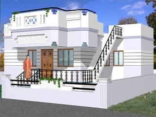 2 Bhk independent houses in Kumbakonam very near to Kumbakonam Byepass Road - Just 3 Kms from Kumbakonam Railway station | http://sgakumbakonam-builders.weebly.com/seethalamman-nagar-good-builders-in-kumbakonam.html Asian style houses by SG Associates Builders and Developers Asian