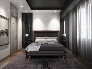 İstanbul'da Grinin ve ahşabın sıcaklığından ve tamamlayıcılığından yola çıktığımız daire tasarımı ve uygulaması. Erler Mimarlık Modern
