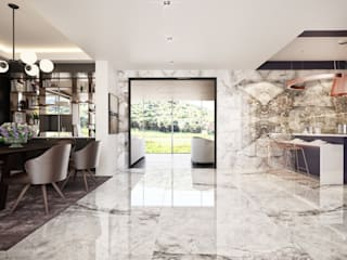 Şile'de gözlerden uzak doğa içinde bir villa tasarımı Modern Oturma Odası Erler Mimarlık Modern