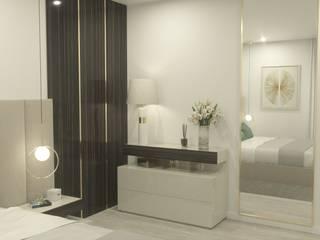 Projecto de mobiliário para Quarto de Casal por Madeira Negra Moderno