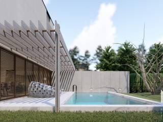 Hồ bơi phong cách hiện đại bởi ARTEQUITECTOS Hiện đại