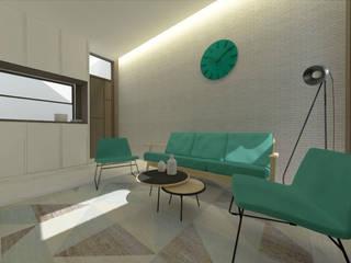 Amaranta Residence - 1st phase Studio Benang Merah Ruang Keluarga Minimalis