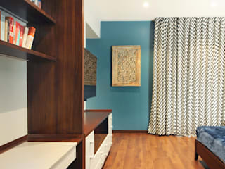 Residence at Prabhadevi Modern style bedroom by Dhruva Samal & Associates Modern