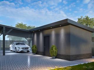 Дизайн фасада дома от СТУДИЯ ДИЗАЙНА ИНТЕРЬЕРА BeHome-Design Скандинавский