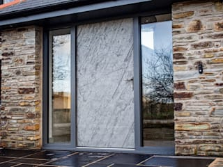 Slate Stone Entrance Door by Camel Glass Rustic
