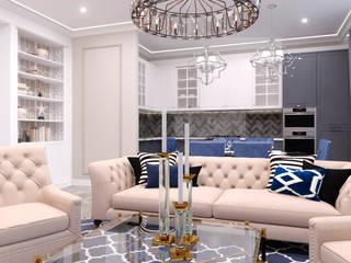 VITTAGROUP Salon classique Bleu