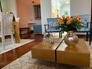 ANA ESTRADA DISEÑO INTERIOR Modern Living Room Wood Beige