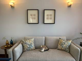 ANA ESTRADA DISEÑO INTERIOR Modern Living Room Concrete Grey