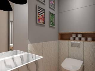 Apartamento em Lyon Angelourenzzo - Interior Design Casas de banho minimalistas