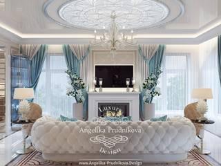 Дизайн-проект интерьера коттеджа в г. Астрахань Гостиная в классическом стиле от Дизайн-студия элитных интерьеров Анжелики Прудниковой Классический