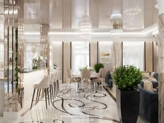 Дизайн-проект интерьера коттеджа в КП Опушка в стиле ар-деко Кухня в классическом стиле от Дизайн-студия элитных интерьеров Анжелики Прудниковой Классический