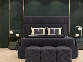 Furniture and interiors for your entire home bedroom collections in premium fabrics: modern  by Anamika Design Co,Modern