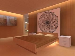 Iluminacion residencial COLOR DELUXE Dormitorios de estilo moderno Ladrillos Acabado en madera