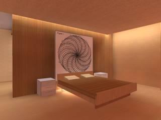 Iluminacion residencial COLOR DELUXE Dormitorios de estilo moderno Azulejos Beige