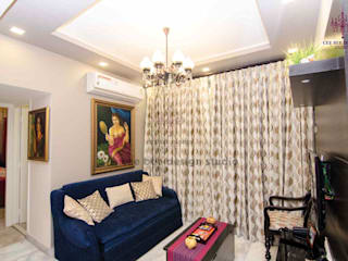 Vibrance Indian Home Classic style living room by Cee Bee Design Studio Classic