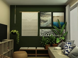 Tropical style garage/shed by COB Arquitetura e Design Tropical