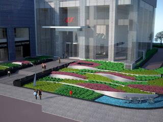 Lippo Plaza Bangunan Kantor Modern Oleh ARLAN Landscape Architects Modern