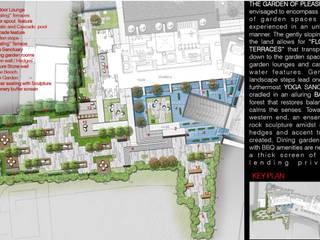 La Vie All Suites Apartments Balkon, Beranda & Teras Minimalis Oleh ARLAN Landscape Architects Minimalis