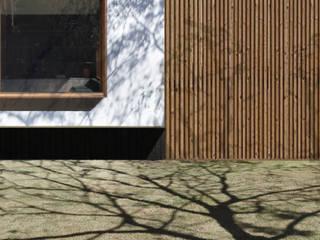 Altro_Studio Wooden houses Engineered Wood White