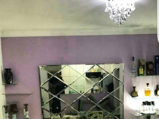 Espelho decorativo por Vidracaria 3 geracao Moderno