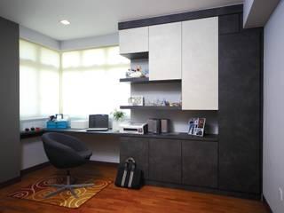 Ruang Studi/Kantor Gaya Asia Oleh Ax Image Group Asia