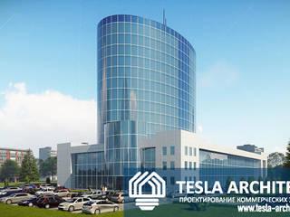 Проект офисного здания Офисы и магазины в стиле модерн от Проектная компания ООО Tesla-Architect Модерн
