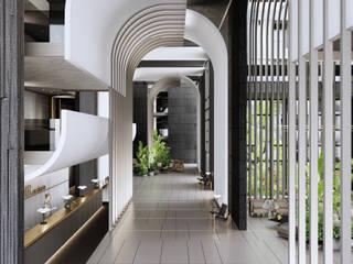 Sui Architecture | Hotel Design | Antalya Sui Mimarlık Modern Koridor, Hol & Merdivenler