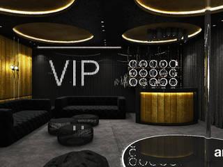 ARTDESIGN architektura wnętrz Salas multimedia de estilo moderno