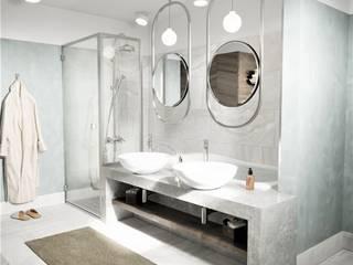 Sui Architecture | Bathroom Design | Wisconsin-ABD Sui Mimarlık Modern Banyo Turkuaz